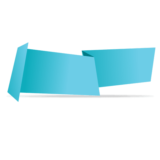 512x512 Blue Horizontal Origami Banner