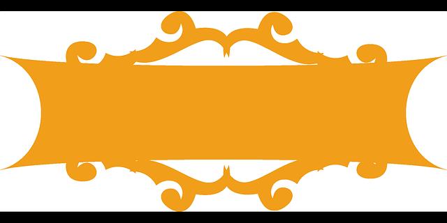 640x320 Fancy, Design, Orange, Banner, Blank, Decoration