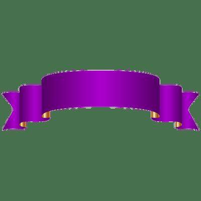 400x400 Purple Banner Transparent Png