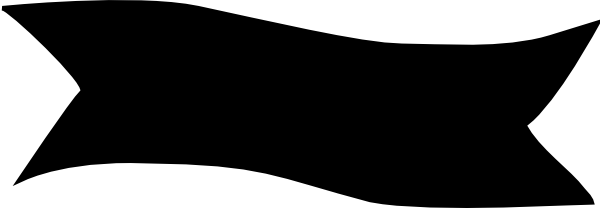 600x208 Banner Black Clip Art