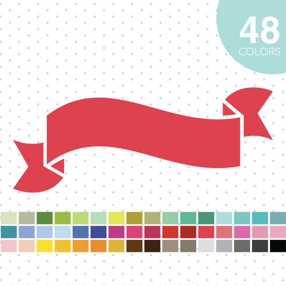 570x570 48 Banner Ribbon Clipart Banner Ribbon Clip Art By Jsdigitalpaper