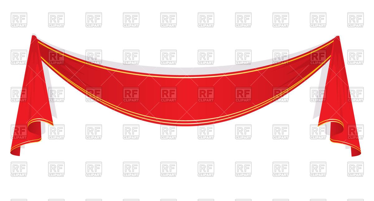 1200x646 Red Ribbon Banner Royalty Free Vector Clip Art Image