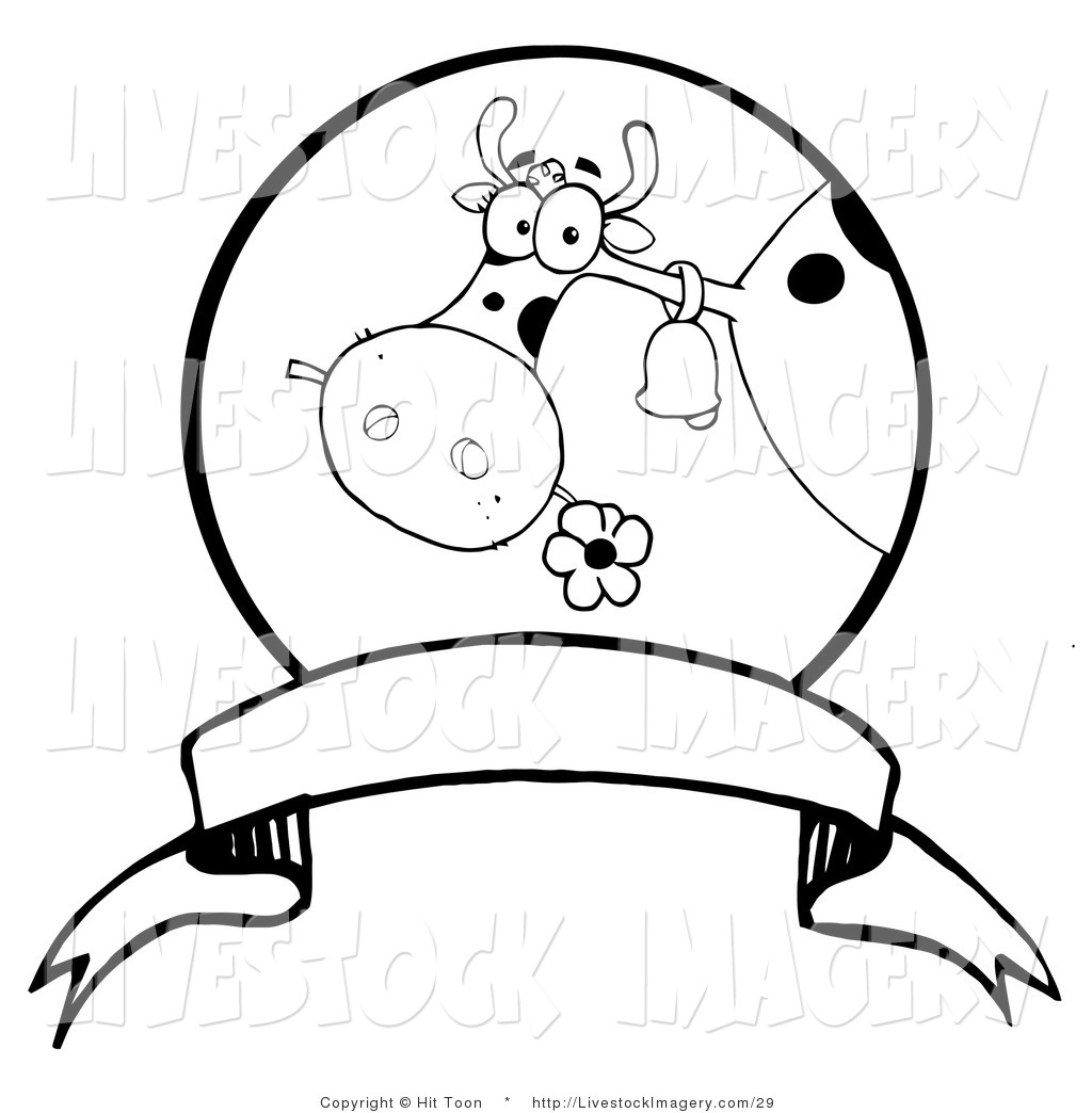 1024x1044 Clip Art Of A Coloring Page Of A Dairy Farm Cow Eating A Flower