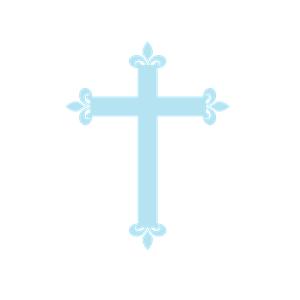300x300 Fleur De Lis Cross Blue Clipart, Cliparts Of Fleur De Lis Cross