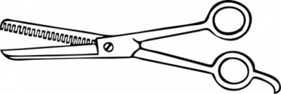 401x135 Barber Scissors Clipart