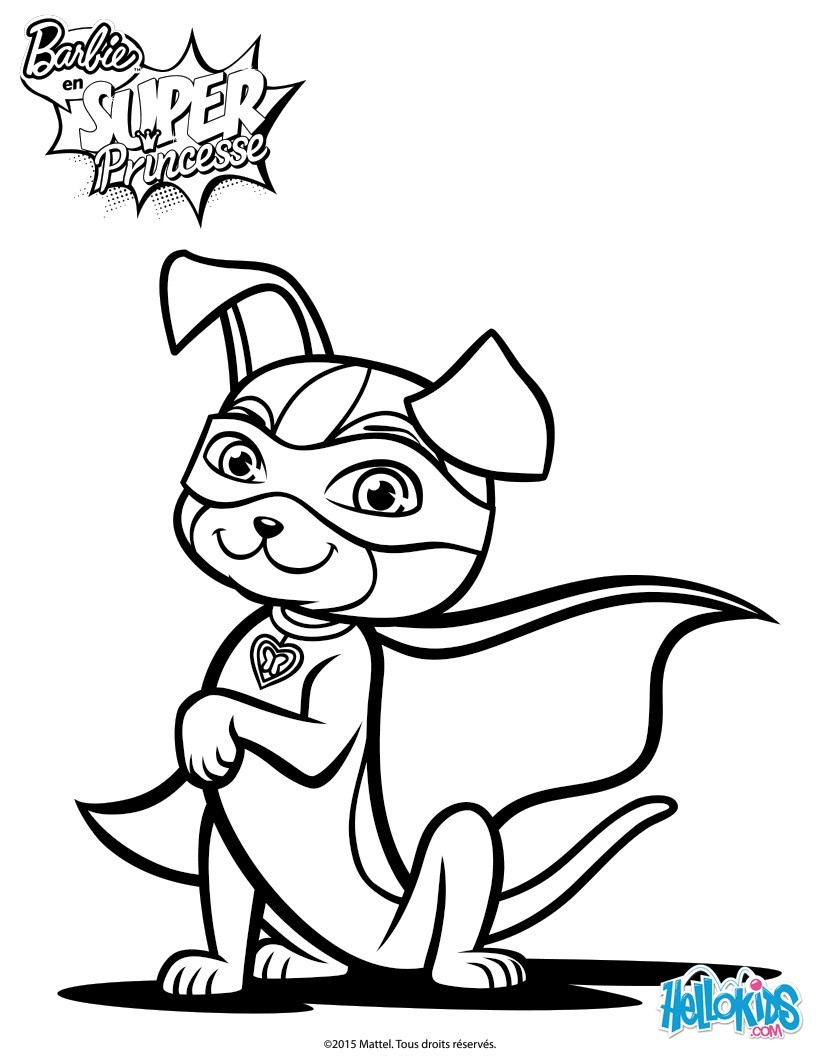 820x1060 Barbie Super Power Magical Dog Coloring Sheet. More Barbie Content