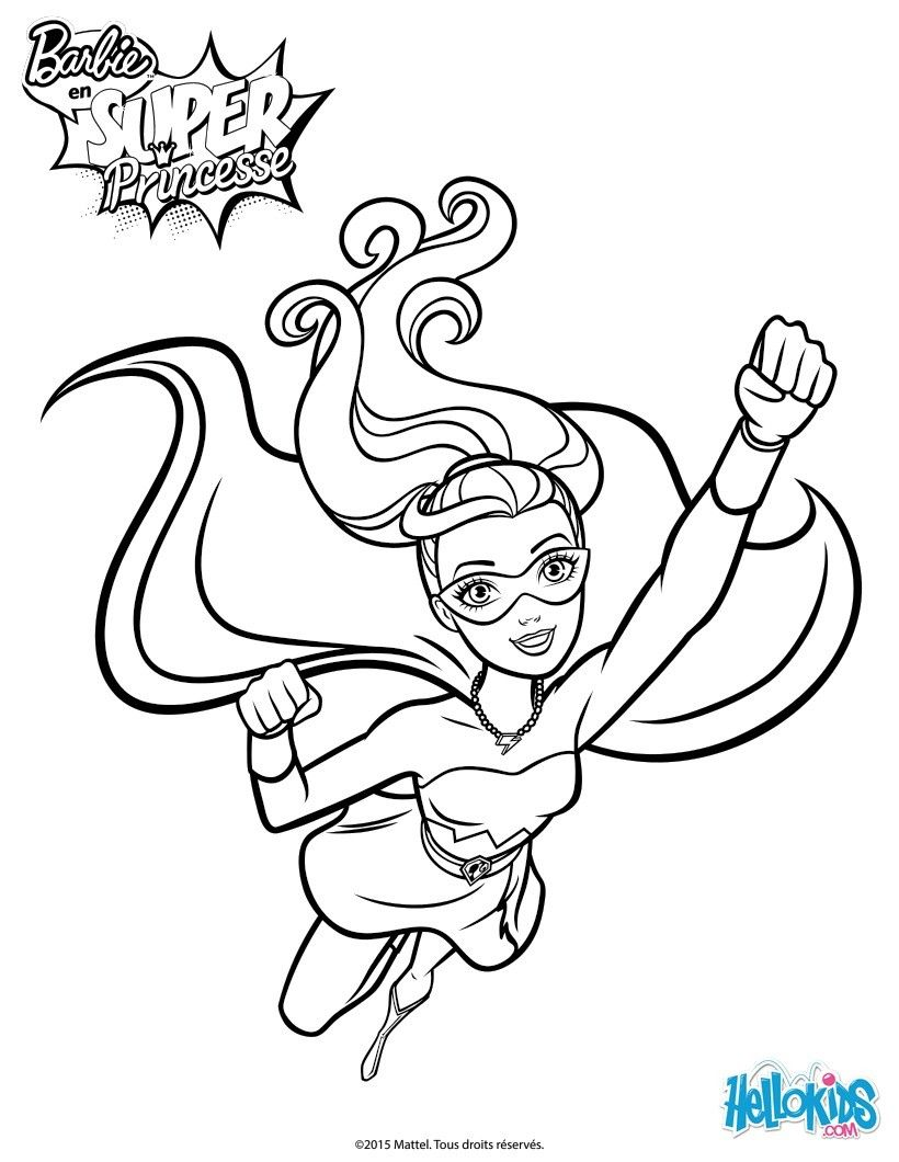 820x1060 barbie super power coloring page more barbie super princess