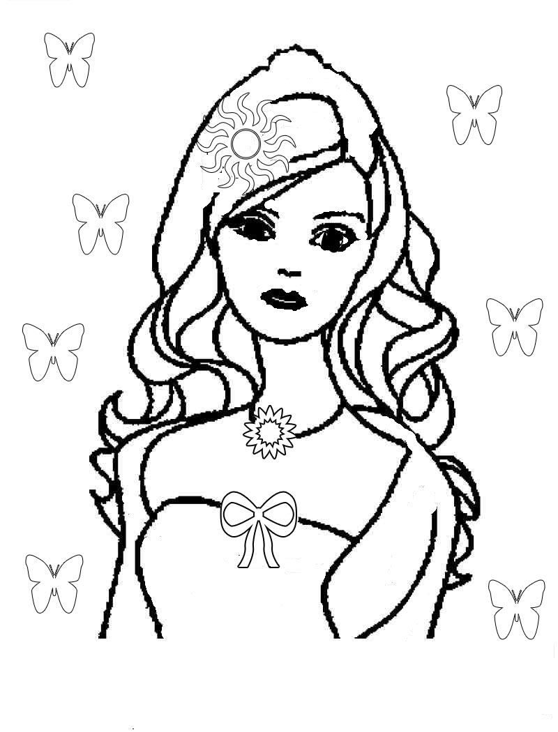 800x1050 Luxury Free Barbie Coloring Pages 28 With Additional Line Drawings