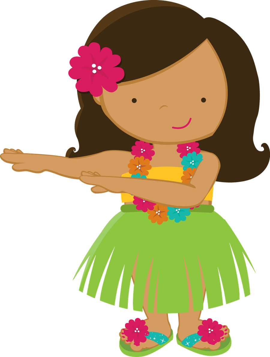 900x1188 Doll Clipart Hawaiian