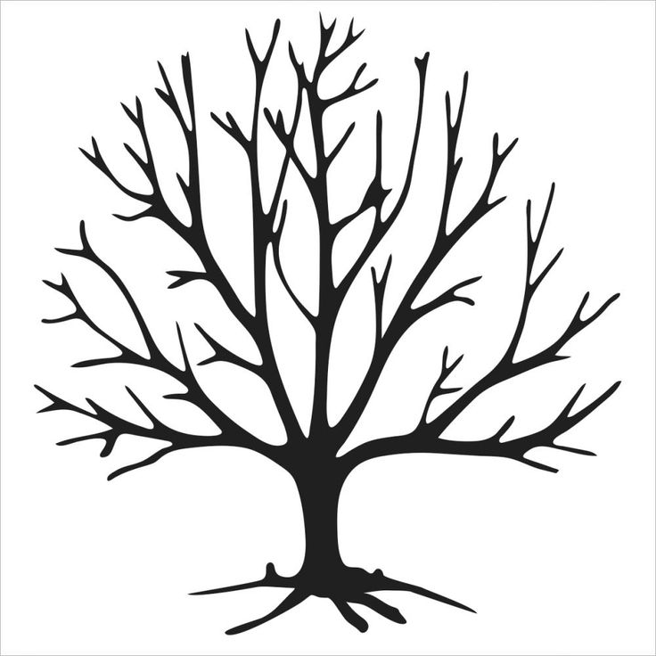 Bare Tree Clipart Black And White | Free download on ...