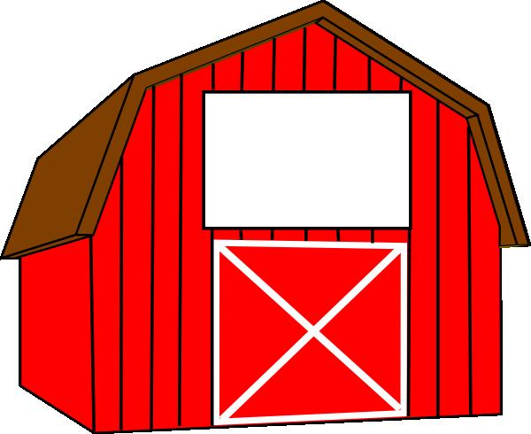 600x490 Red White Barn Clip Art