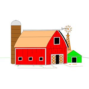 300x300 Barn Clip Art