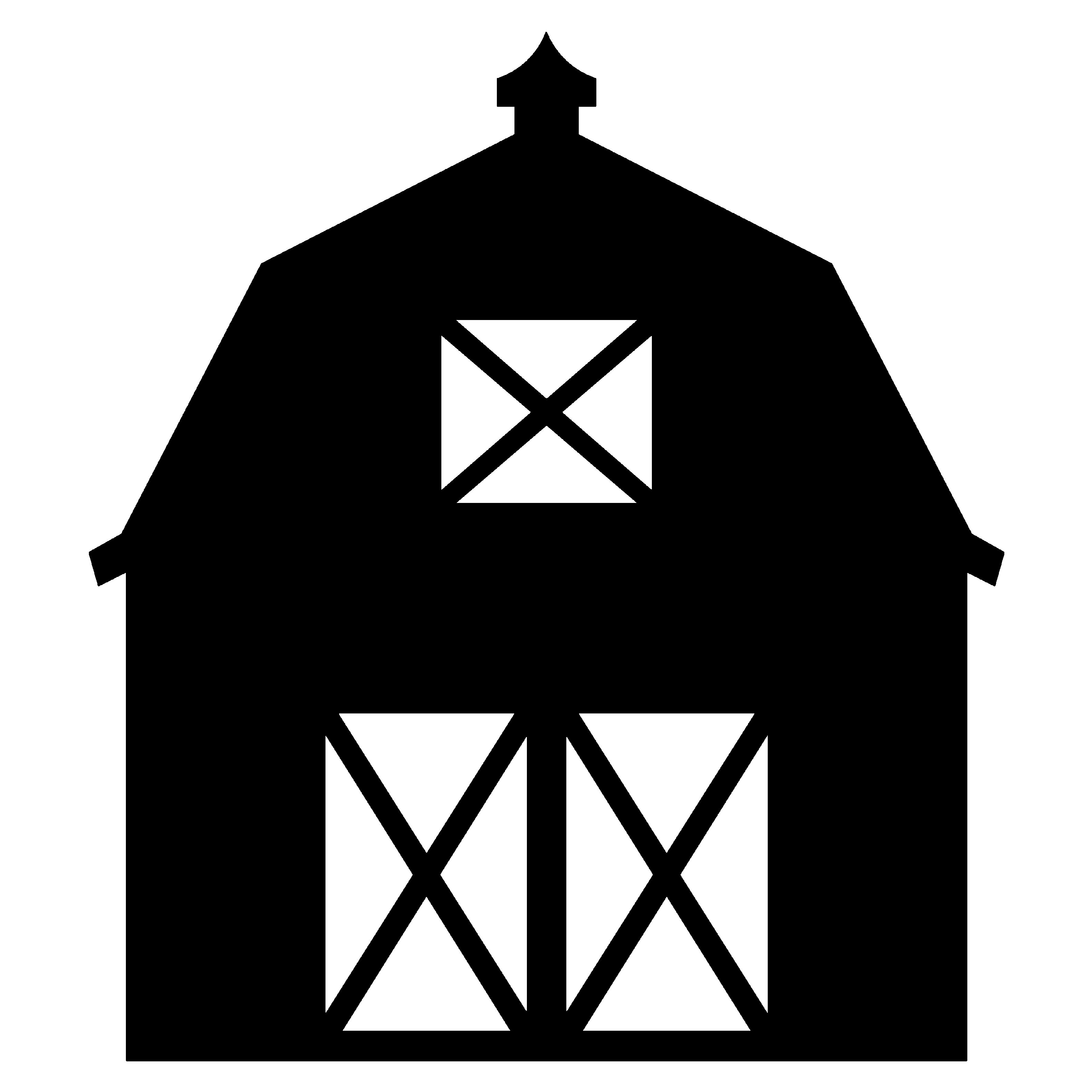 3600x3600 Barn Clipart Outline