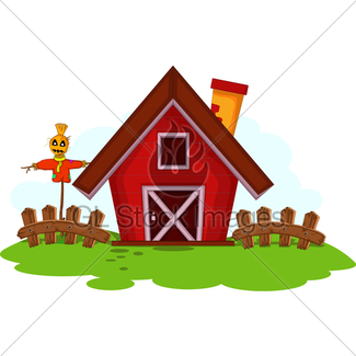325x325 Meadow With Big Red Barn Gl Stock Images