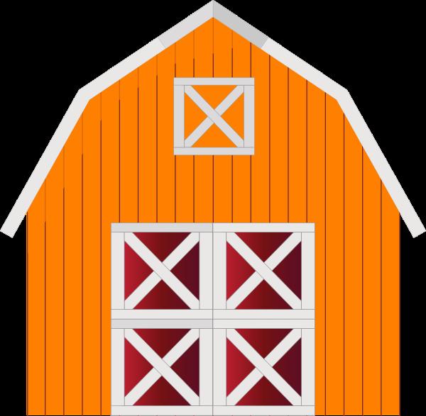600x587 Orange Barn Clip Art
