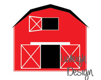 340x270 Red Barn Clipart Etsy