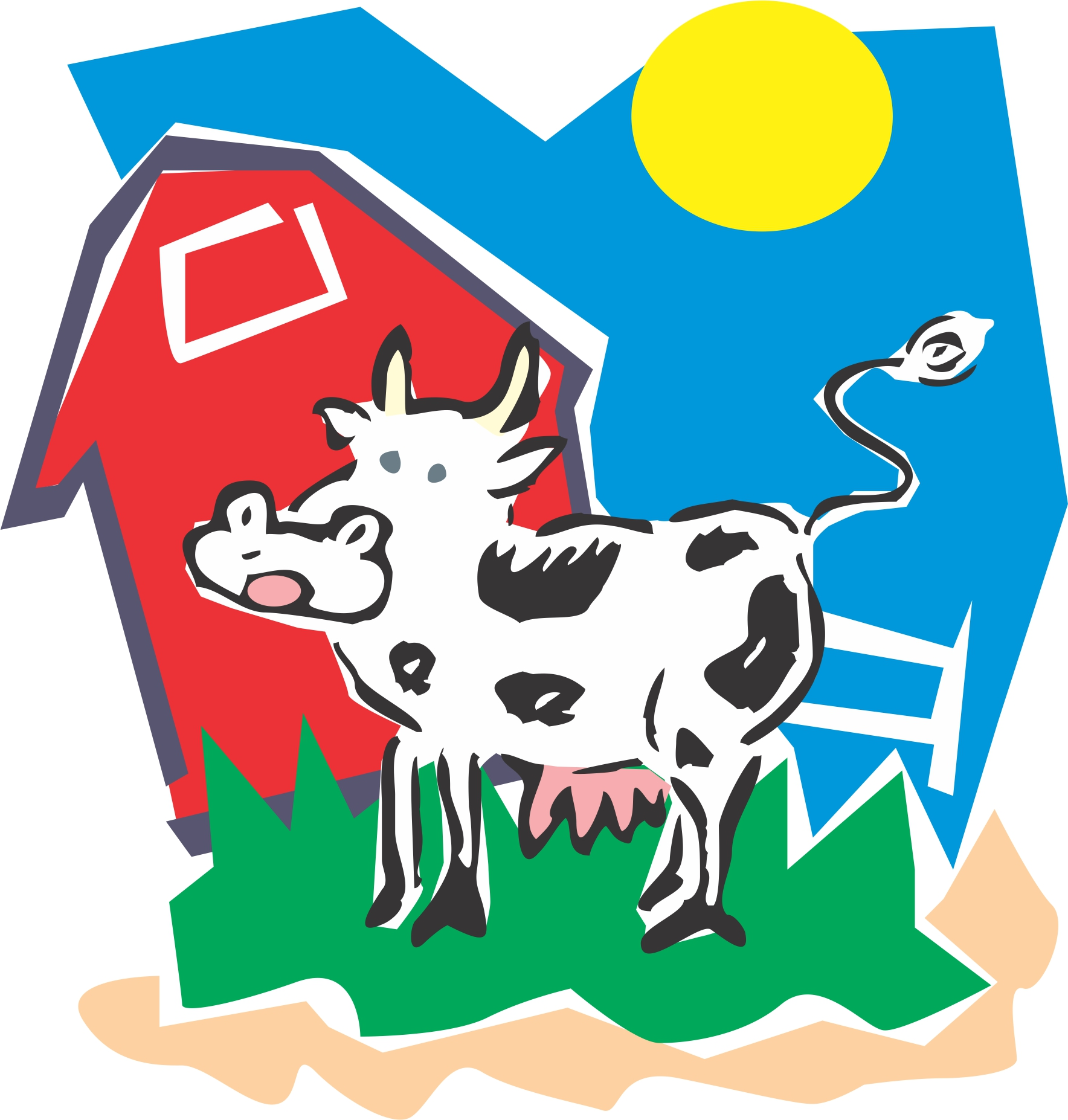 1768x1854 Barn Clipart Cow Barn