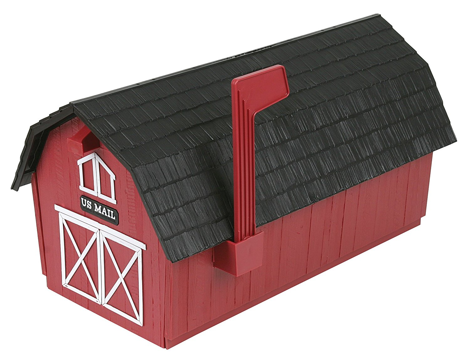 1500x1152 Flambeau T 1003 Barn With Black Roof, Red Rural