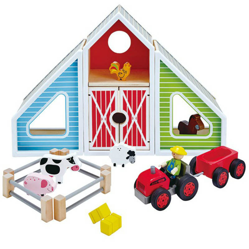 800x800 Hape Barn Play
