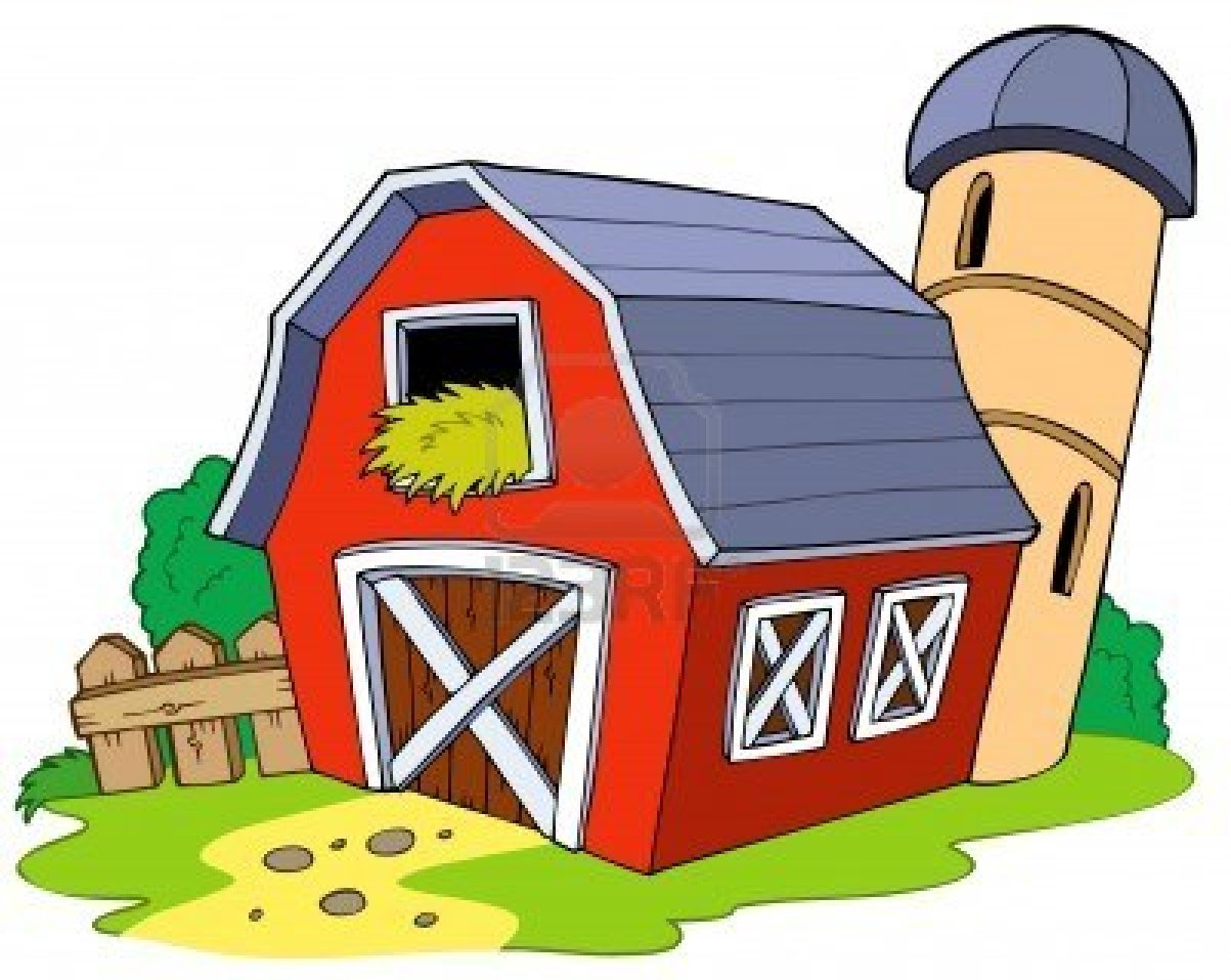 1203x957 Old Barn Drawing Clipart