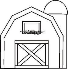 224x225 Barn Clipart Coloring Page