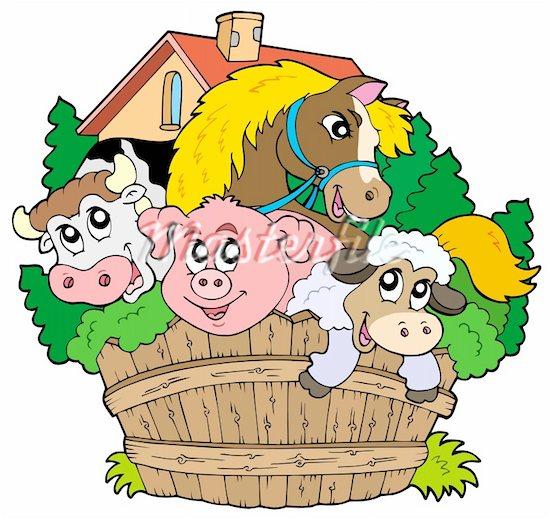 550x518 Animl Clipart Farm Animal