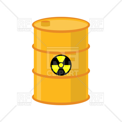 400x400 Chemical Waste Yellow Barrel Royalty Free Vector Clip Art Image