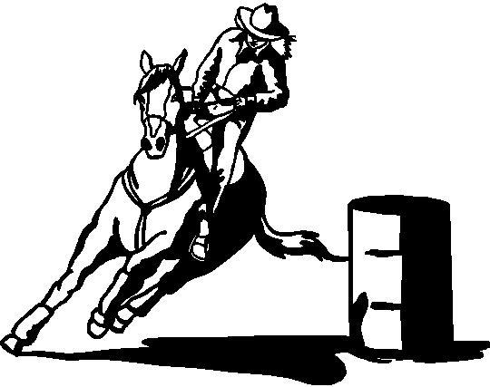 540x427 Barrel Racing Clipart