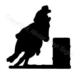 256x248 Cowgirl Barrel Racing