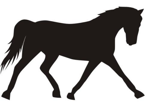 500x349 Horse Silhouette Clipart