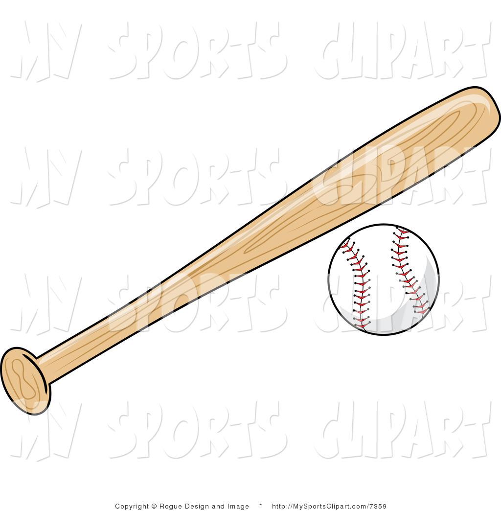 Baseball And Bat Clipart