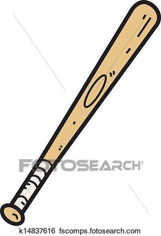 321x470 Clip Art Of Wooden Baseball Bat K14837616
