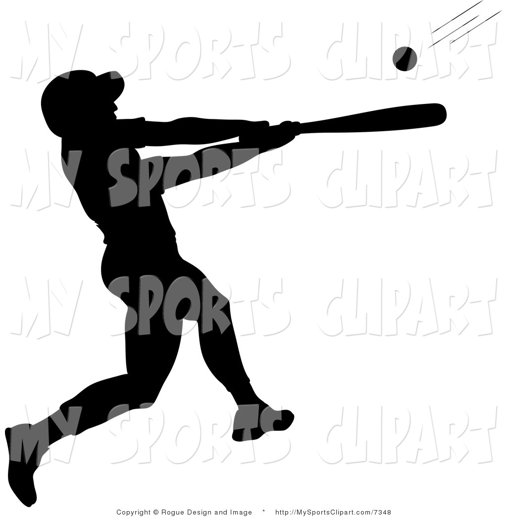 1024x1044 Sports Clip Art Of A Silhouetted Baseball Batter By Pams Clipart