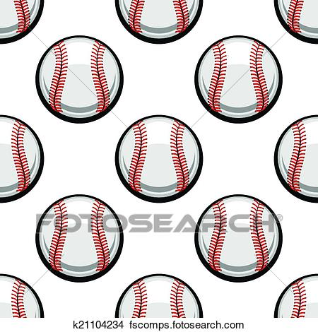 450x470 Clipart Of Seamless Pattern Of Baseball Balls K21104234