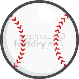 300x300 Royalty Free Baseball Ball 396083 Vector Clip Art Image