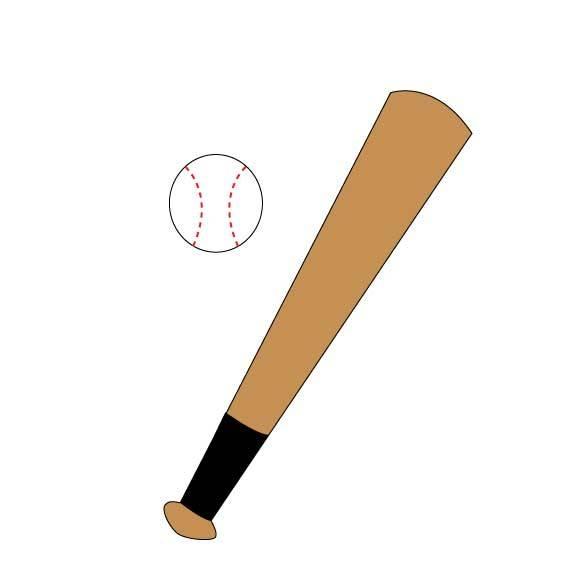 576x576 Baseball Bat Clipart Rounders