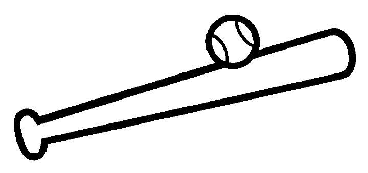 720x339 Baseball Bat Drawings Clipart
