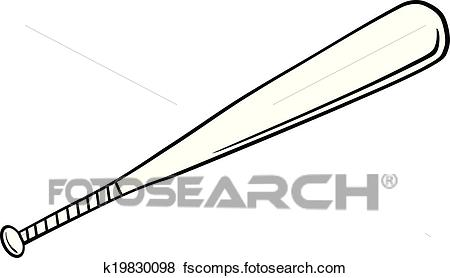 450x278 Clip Art Of Black And White Baseball Bat K19830098
