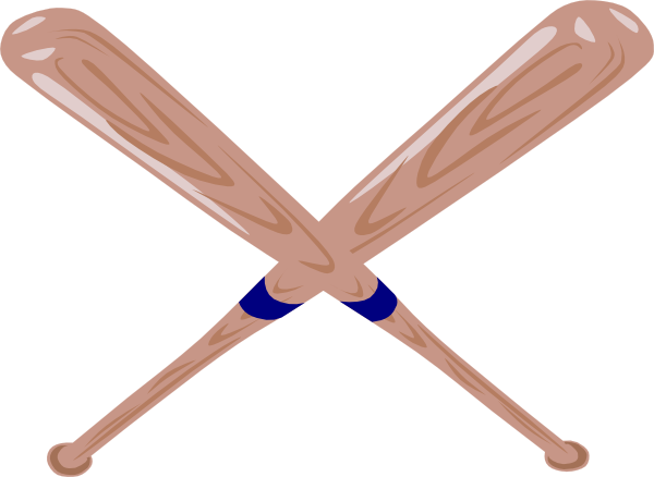 600x438 Crossed Baseball Bat Clip Art