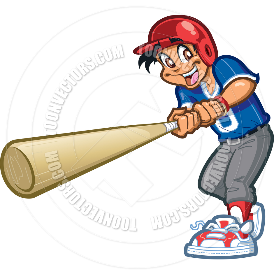 940x940 Swinging Big Baseball Bat By Kenny Kiernan Toon Vectors Eps