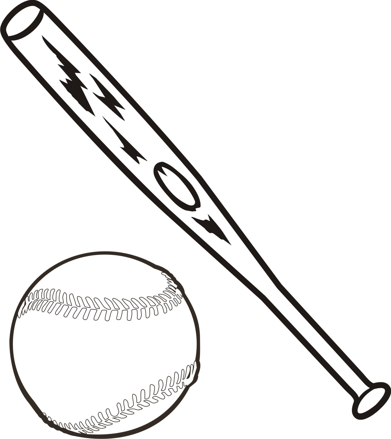 1271x1428 Bat Black And White Baseball Bat Black And White Clipart 2