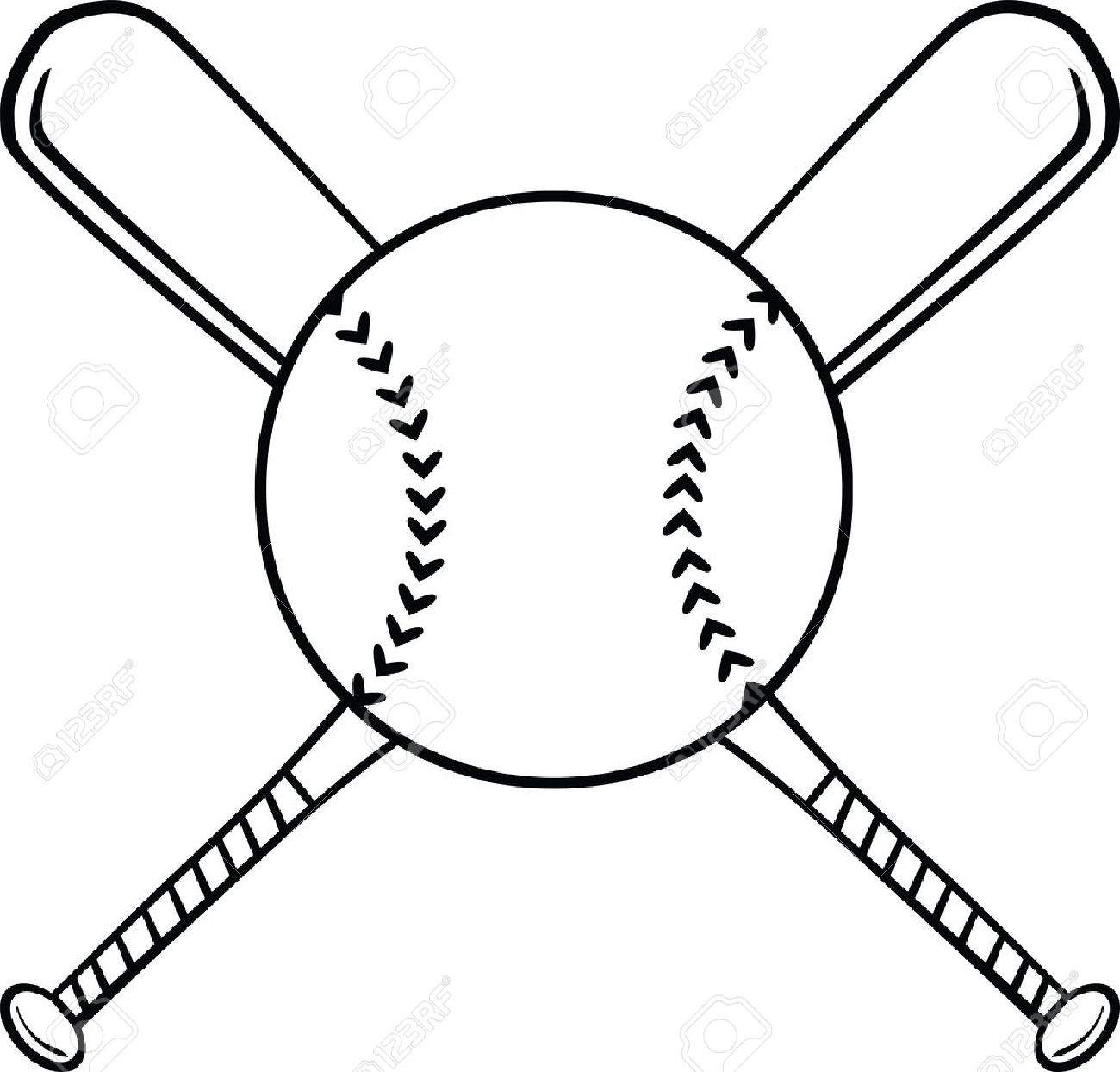 1300x1244 Crossed Baseball Bats Clipart Black And White Letters Example