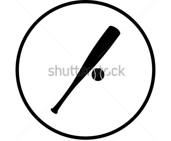 550x454 Premium Baseball Bat Vectors