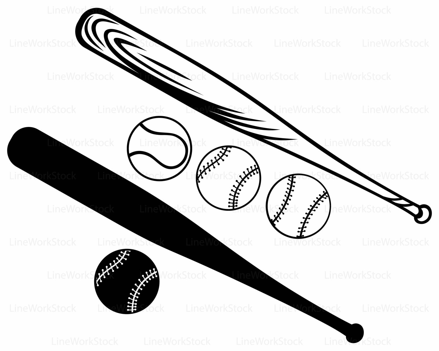 1500x1200 Softball And Bat Clipart Amp Softball And Bat Clip Art Images