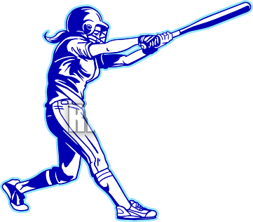 361x316 Softball Bat Clipart