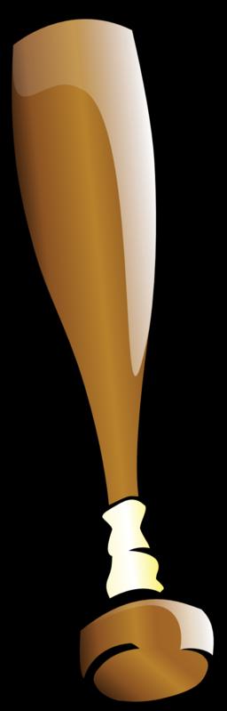 256x799 Clip Art Of A Baseball Bat Clipart 2 Image