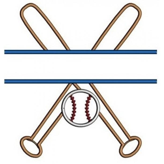 700x700 Baseball Bats Split Crossed