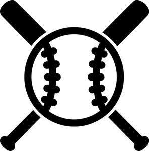 296x300 Baseball Diamond Crossed Bat Retro Royalty Free Stock Image