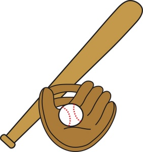 282x300 Baseball Bat And Glove Clipart Clipartfest