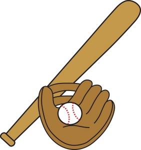 282x300 Baseball Bat And Glove Clipart Clipartfest